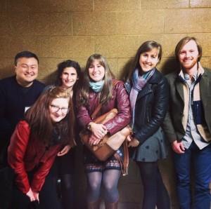 From left to right, Do Lee, Reilly Wilson, Shelley Buchbinder, Kristen Hackett, Hannah Jaicks, and Bryce DuBois.  James Sevitt also attended.